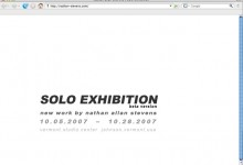 SOLO EXHIBITION, beta version, 2007